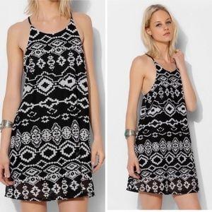 Urban Outfitters Tribal Print Black Dress